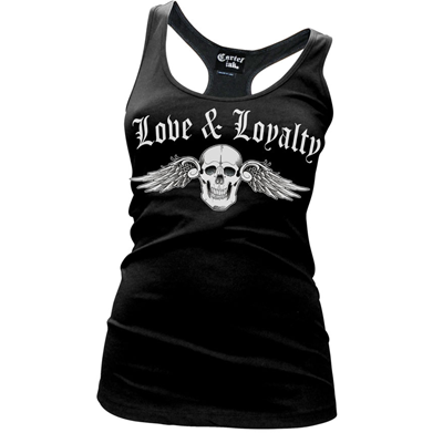 Women's Cartel Ink Love And Loyalty Racer Back Tank Top