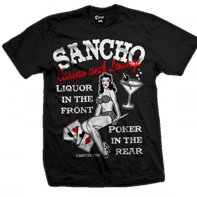 Men's Cartel Ink Sancho Casino and Lounge Tee