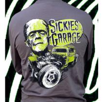 Sickies Garage Frankenstein 'Chopped & Dropped' Long Sleeve Men's Tee