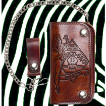 Lucky 13 No Riders Pinup Embossed Chain Wallet