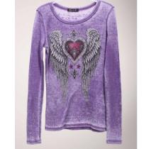 Women's Purple Winged Heart Thermal