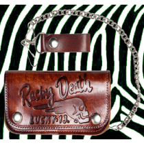Lucky 13 Death Racer Embossed Chain Wallet