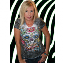 Women's Sugar Skull Sublimation Tee