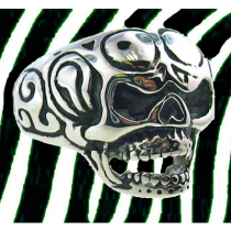 Men's Tribal Skull Ring