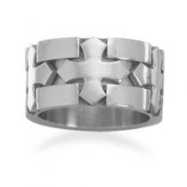 Triple Cross Design Stainless Steel Ring