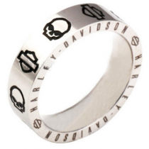 Wille G Bar and Shield Craved Men's Band Ring
