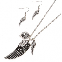 Wing Necklace and Earring Set