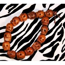 Wooden Skull Bracelet