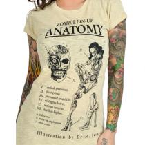 Women's Zombie Anatomy Babydoll Tee